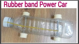 how to make a homemade plastic bottle car by a rubber band