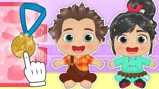 BEBES ALEX Y LILY Se transforman en Rompe Ralph 🎮Dibujos animados educativos