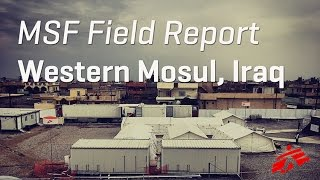 At one MSF hospital south of Mosul we treated 1400 patients half
