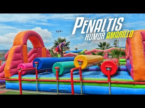 PENALTIS en CASTILLO HINCHABLE (Humor Amarillo) ¡RETO FÚTBOL!
