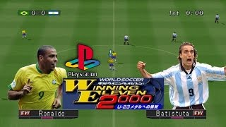 Brasil VS. Argentina - Winning Eleven 2000 [PS1]