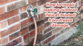 Outdoor Faucet Repair from Freezing