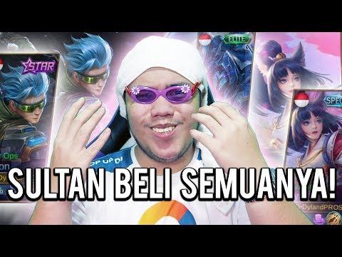 DISURUH SULTAN BELI SEMUA SKIN BARU! GA PAKE RAGU!?!? - Mobile Legends Indonesia #86