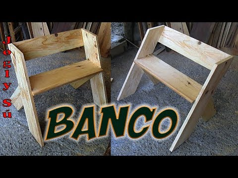 Banco de madera fácil, bonito y cómodo