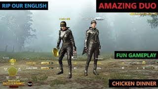 [Hindi] PUBG MOBILE   FUNNY ENGLISH WITH AMAZING DUO GAMEPLAY
