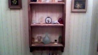 2x4 Country Bathroom Shelf