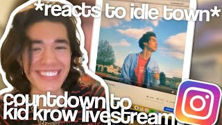 Conan Gray Reacting To Idle Town 3 Years Later  (3/19/20) | Conan Gray Full instagram livestream
