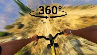 Extreme Downhill Racing in Virtual Reality - GTA 5 VR 360°