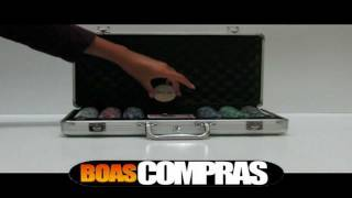 Kit De Poker - Maleta 300 Fichas De Poker - PESO OFICIAL 11,5g - BOASCOMPRAS