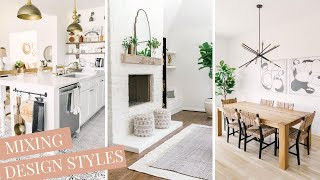 How To Mix Design Styles In Your Home - Interior Design Tips With Farmhouse Living