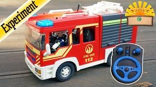 FERNGESTEUERTES FEUERWEHRAUTO mit Playmobil RC-SET 6914 Film deutsch