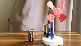 How to make a dc motor FAN