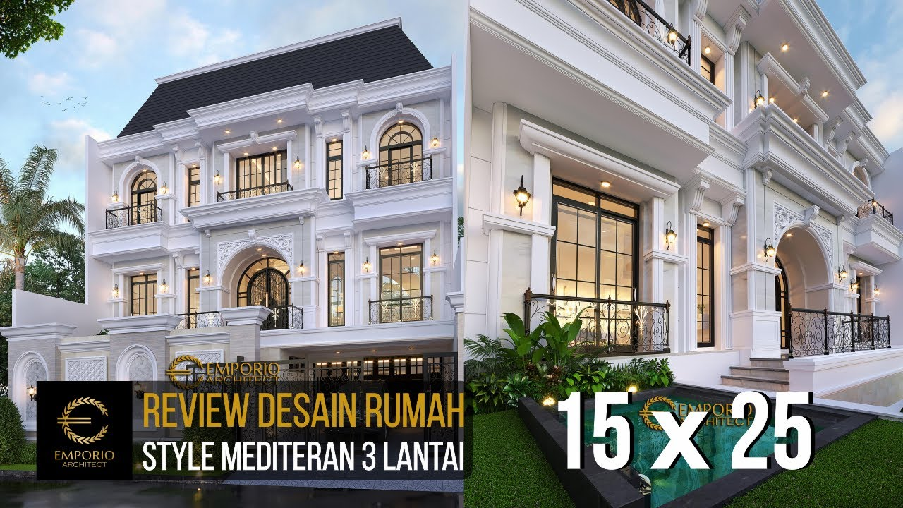 Video 3D Mrs. Debbie Mediterranean House 3 Floors Design - Jakarta Utara