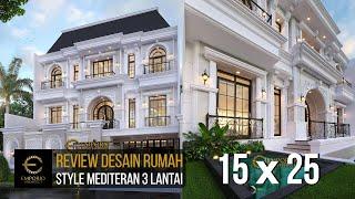 Video Desain Rumah Mediteran 3 Lantai Ibu Debbie di  Jakarta Utara
