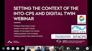 Setting the context of the INTO CPS and Digital Twin Webinar