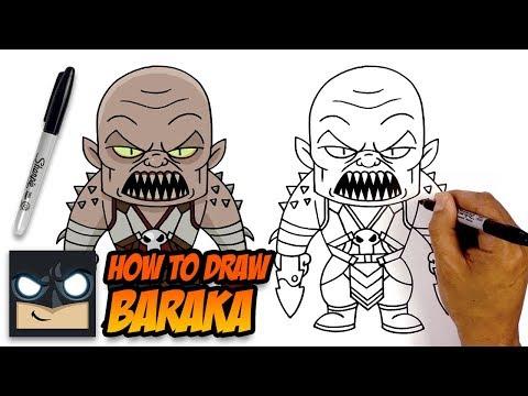 How to Draw Baraka   Mortal Kombat 11   Step-by-Step Tutorial
