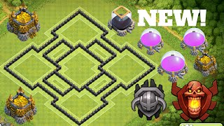 New EPIC TOWN HALL 8 (TH8) TROPHY BASE DEFENSE! 2016 | TH8 Loot Protective Base