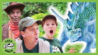 Giant Dinosaurs & LB Finds a Secret Door! Kids Dinosaur Adventure Compilation! T Rex & Pretend Play