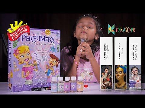Making Perfume for Kids  My Own Perfumery Kit! Scientific Explorer Kyrascope Toy Reviews  alex toys
