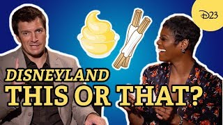 """Disneyland """"This or That"""" with Nathan Fillion and Afton Williamson"""