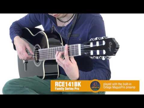 ORTEGA RCE141BK Klasická elektroakustická kytara