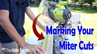 How to make a miter cut